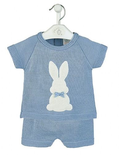 Gorgeous Baby Boy Blue Bunny Top Shorts S
